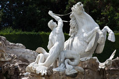 статуя тритон Стоковая Фотография