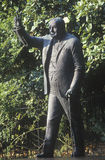 Статуя Уинстона Черчилля, на строке посольства, вход к Посольству Великобритании на бульваре Массачусетса, Вашингтоне, DC Стоковые Фото