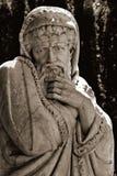 Статуя унылого холодного человека стоковое фото rf