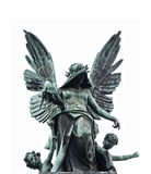 статуя упаденная ангелом Стоковые Фотографии RF