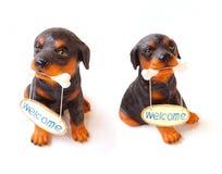 Статуя усаживания собаки Стоковые Изображения