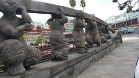 Статуя улицы Jeju городская похоронная стоковое фото rf