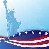 статуя флага Стоковые Фотографии RF