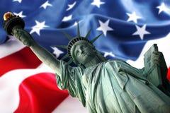 статуя флага Стоковая Фотография RF