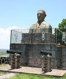 Статуя, форт San Basilio стоковая фотография rf