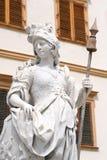 статуя фронта eggenberg замока Стоковое Фото