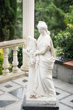 Статуя флоры Старый бог Греции напольно Стоковое Фото