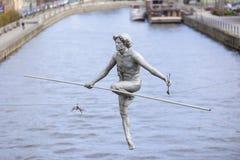 Статуя ходока веревочки стоковая фотография