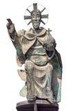 Статуя христианского Святого изолированного на белизне Стоковая Фотография