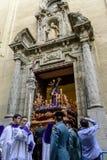 Статуя Христоса покидая церковь Стоковые Фотографии RF