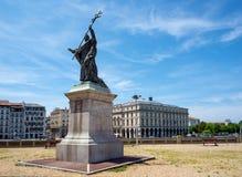 Статуя Чарльза военного Lavigerie в Байонне Франция Стоковые Изображения RF