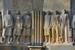 Статуя части трудовойа ресурс fontaine Стоковые Фото