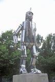 Статуя человека олова на парке Oz, Чикаго, Иллинойсе Стоковые Фото