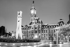 Статуя штыря одежд, здание муниципалитет, Филадельфия, Пенсильвания Стоковое Изображение