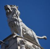Статуя льва в Риге Стоковые Изображения RF