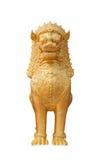 Статуя льва, тайский стиль искусства Стоковая Фотография RF