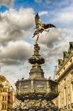 Статуя эрота на цирке Piccadilly, Лондоне Стоковые Фото