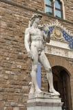 Статуя Дэвида Микеланджело Buonarroti в Флоренсе, Италии Стоковые Фотографии RF