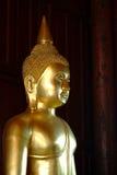 статуя 2 Будд золотистая Стоковое Изображение