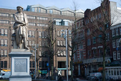 статуя amsterdam rembrandt Стоковые Фото