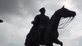 Статуя Ataturk на Анкаре в Турции сток-видео