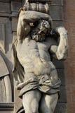 статуя atlante стоковое изображение rf