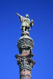 статуя barcelona Христофора columbus Испании Стоковое Изображение
