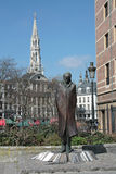 Статуя Bela Bartok в Брюсселе стоковое фото rf
