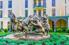 Статуя Berikaoba (кольца танцев) в Тбилиси Стоковое Фото