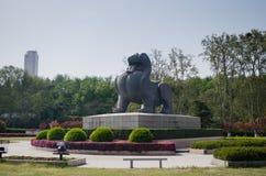 Статуя Bixie от сказания традиционного китайския Стоковые Изображения RF