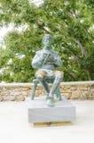 Статуя Blaz Baromic, Vrbnik, Krk, Хорватии Стоковое Изображение