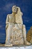 Статуя Daedalus расположенная в городке galini Agia (Крита islan Стоковые Изображения RF