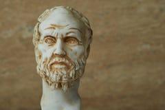 Статуя Demokritus, философ древнегреческия Стоковое Фото