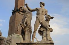 Статуя Dioscuri в Риме стоковые фото