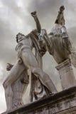 Статуя Dioscuri в Риме Стоковое фото RF