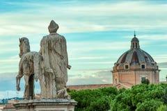 Статуя Dioscuri на холме Capitoline, Риме Италия Стоковое фото RF