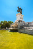 Статуя Felipe IV в Мадриде Стоковое Фото