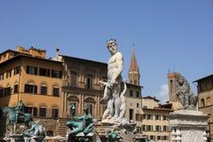 статуя florence Италии Нептуна Стоковые Изображения RF