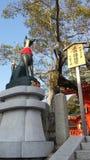 Статуя Fox в Fushimi Inari Стоковые Изображения RF