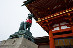 Статуя Fox Стоковая Фотография RF