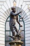 статуя gdansk Нептуна Стоковая Фотография RF