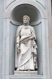 Статуя Giovanni Boccaccio Стоковое фото RF