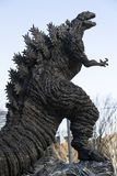Статуя Godzilla в Hibiya стоковое фото rf
