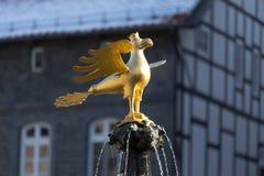 Статуя goslar Германия беркута Стоковые Фотографии RF