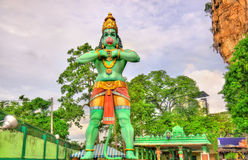 Статуя Hanuman, индусский бог, на пещере Ramayana, Batu выдалбливает, Куала-Лумпур стоковое изображение rf