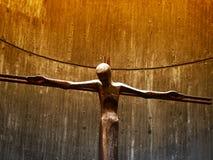 статуя jesuschrist предпосылки золотистая Стоковая Фотография RF