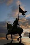 статуя joan paris дуги стоковая фотография rf