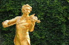 Статуя Johann Strauss в Вена, Австралии Стоковые Фотографии RF