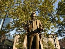 Статуя John Singleton Copley, квадрат Copley, Бостон, Массачусетс, США Стоковые Фотографии RF