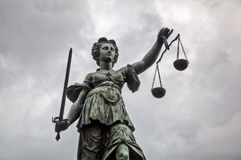 Статуя Justitia Стоковое Фото